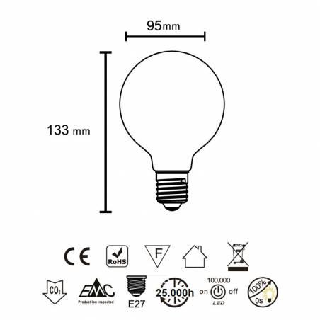 MANTRA LED E27 6.5w 360º opal bulb 720lm