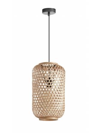 Lámpara colgante India E27 bambú natural - MDC