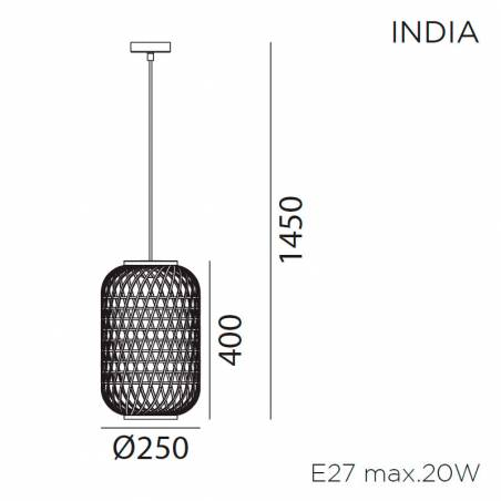 MDC India E27 natural bamboo pendant lamp info