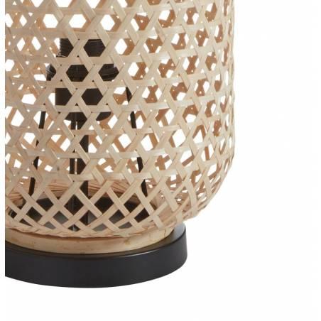 MDC India E27 natural bamboo table lamp detail