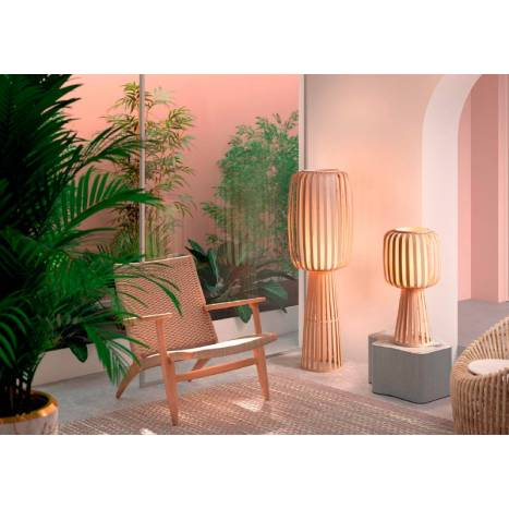 MDC Cintia E27 natural bamboo floor lamp models ambient