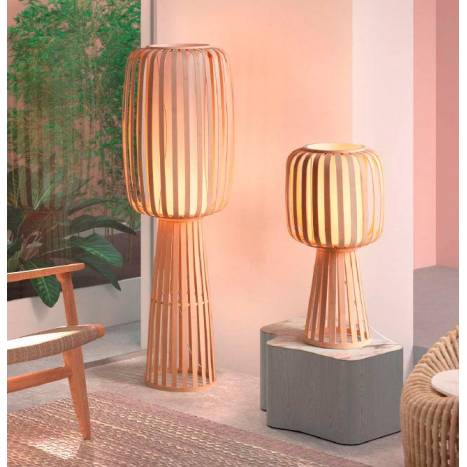 MDC Cintia E27 natural bamboo floor lamp models ambient 1