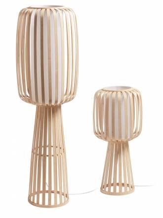 Lámpara de pie Cintia E27 bambú natural modelos - MDC