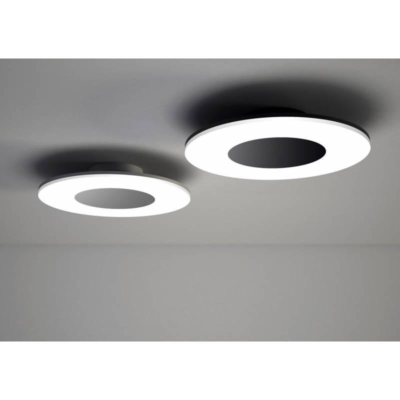 Plaf n de techo discobolo led 36w negro mantra - Plafones de techo led ...