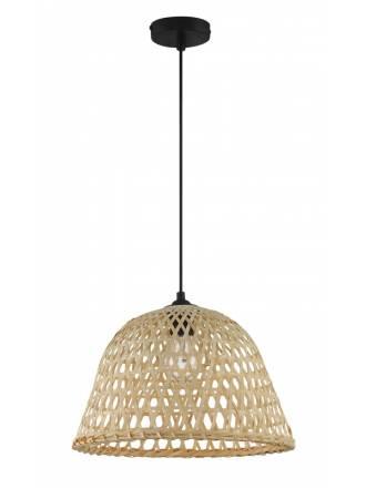 Lámpara colgante David E27 bambú natural MDC