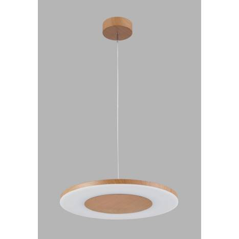 Mantra Discobolo pendant lamp LED 36w wood