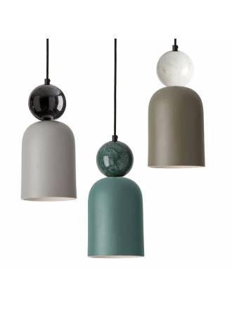 Lámpara colgante Bell Led 18w mármol modelos - Aromas