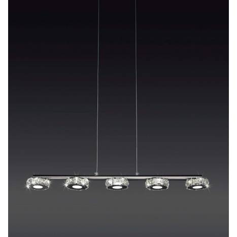 Lampara colgante Crystal LED 5 luces de Mantra