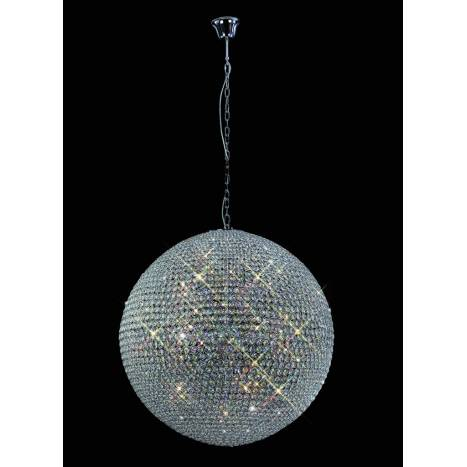 Mantra Crystal pendant lamp 18L G9 chrome