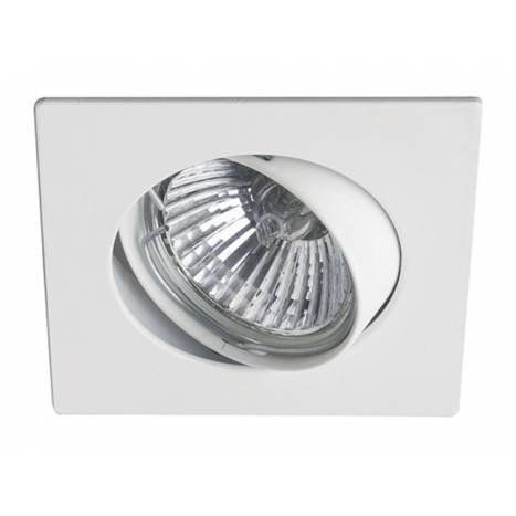 MASLIGHTING 225 square recessed light white