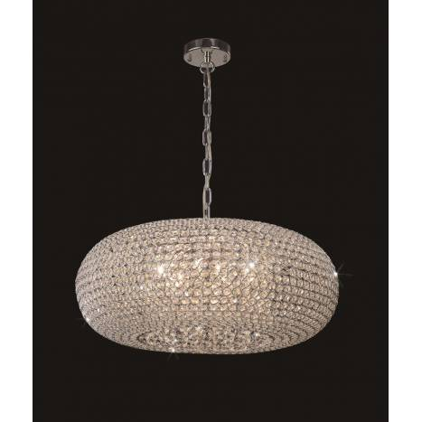Mantra Crystal pendant lamp 9L G9 60cm