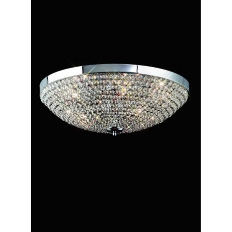 Mantra Crystal ceiling lamp 9L G9 chrome