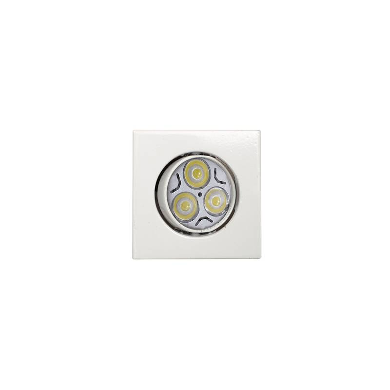 MASLIGHTING Zamack square recessed light LED 6w white