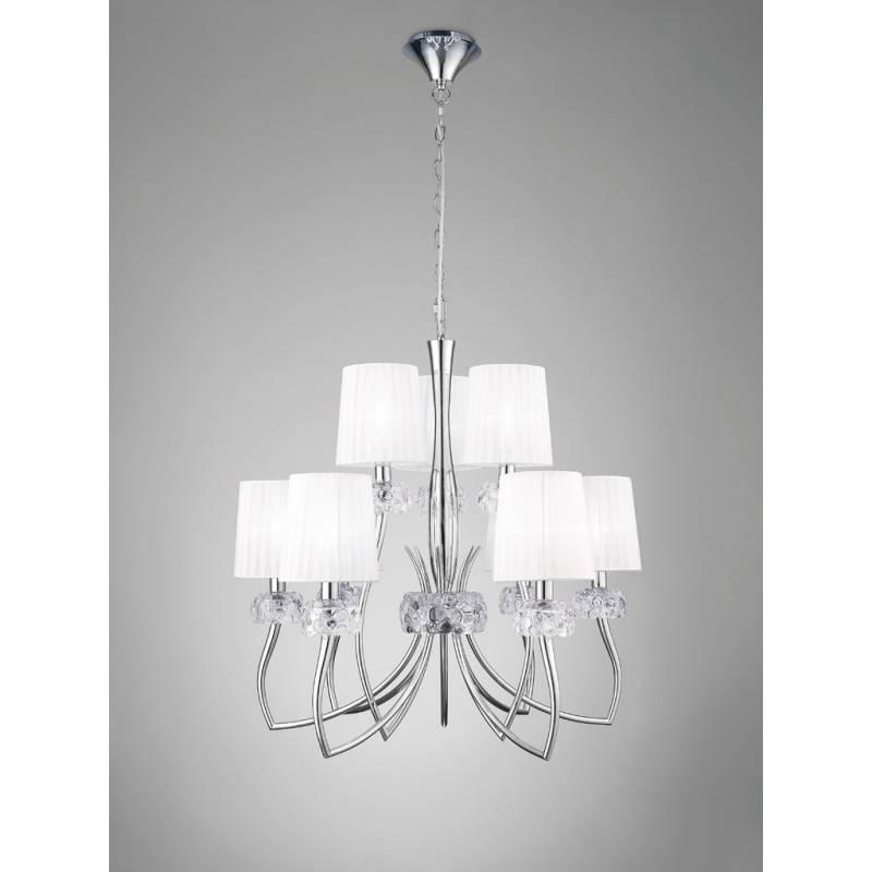Mantra Loewe pendant lamp 9L chrome