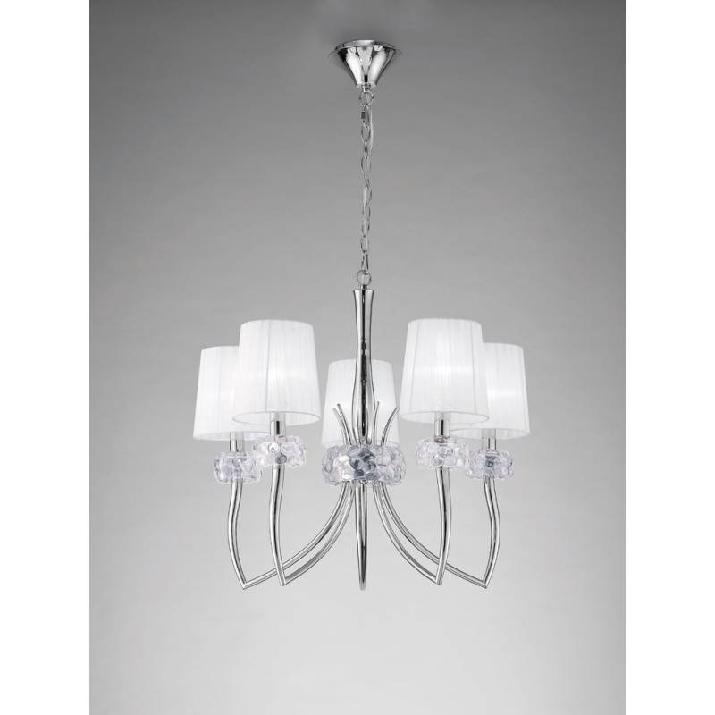Mantra Loewe pendant lamp 5L chrome