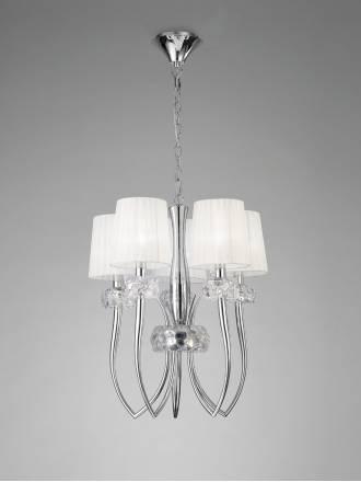 Lampara colgante Loewe 5 luces 50cm cromo de Mantra