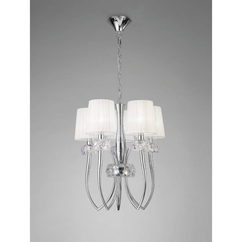 Mantra Loewe pendant lamp 5L 50cm chrome
