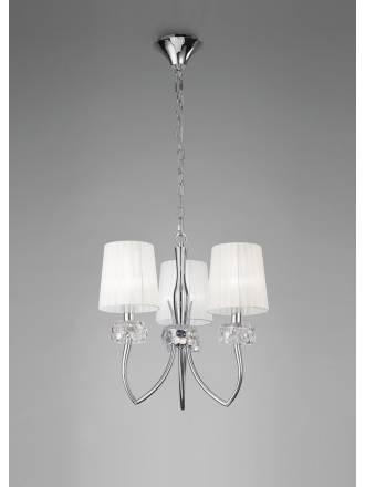Lampara colgante Loewe 3 luces cromo de Mantra