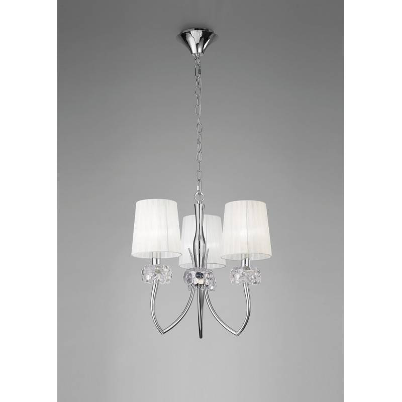 Mantra Loewe pendant lamp 3L chrome