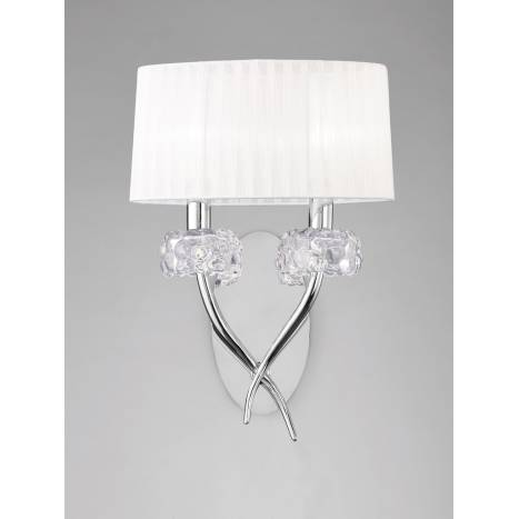 Aplique de pared Loewe 2 luces cromo de Mantra