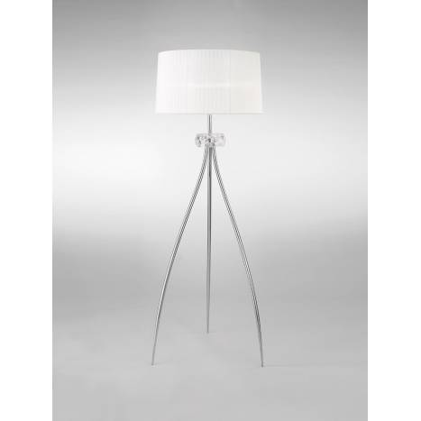 Mantra Loewe floor lamp 3L E27 chrome
