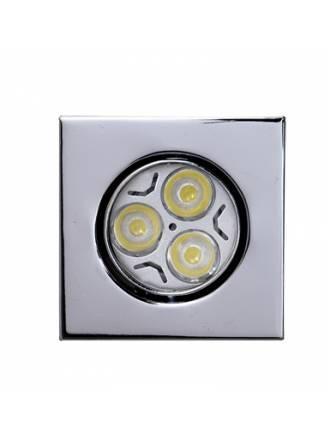 Foco empotrable LED 6w zamak cromo cuadrado
