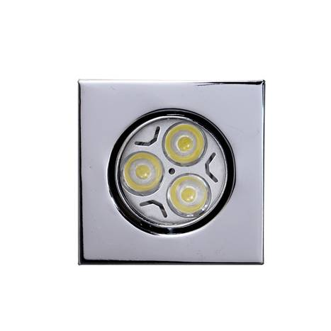MASLIGHTING Zamack square recessed light LED 6w chrome
