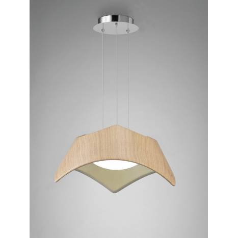 Mantra Maui pendant lamp LED 25w wood