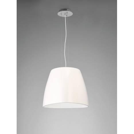 Mantra Triangle pendant lamp 47cm white
