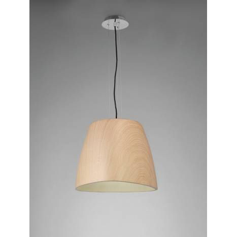 Mantra Triangle pendant lamp 47cm wood