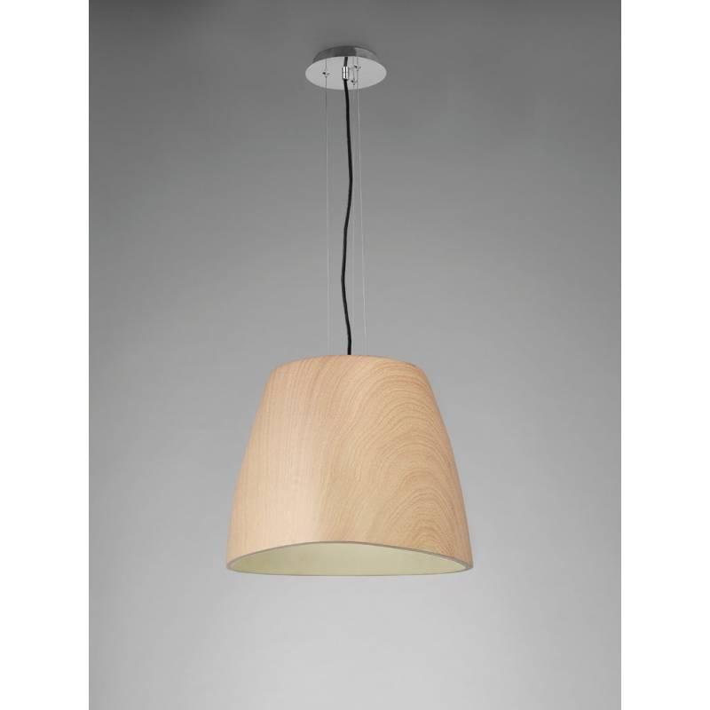 L mpara colgante triangle 47cm madera mantra - Lamparas colgantes de madera ...