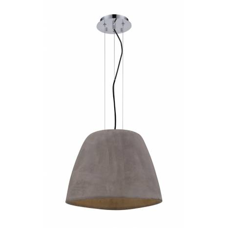 Mantra Triangle pendant lamp 47cm cement