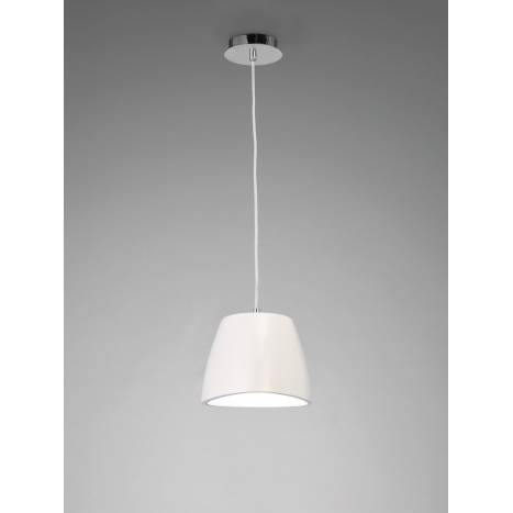 Mantra Triangle pendant lamp 22cm white