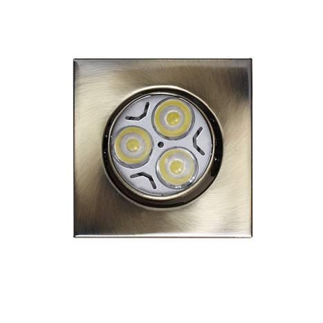Foco empotrable LED 6w zamak bronce cuadrado