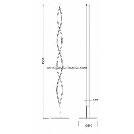 Mantra Sahara floor lamp LED 21w dimmable