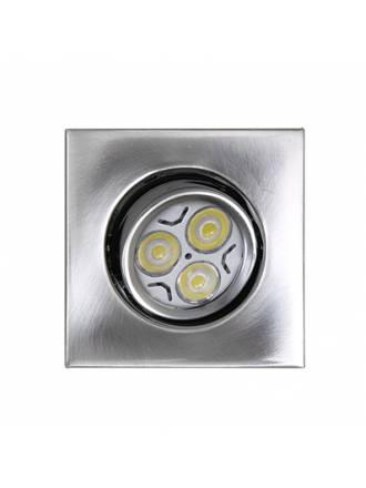 MASLIGHTING Zamack square recessed light LED 6w inox