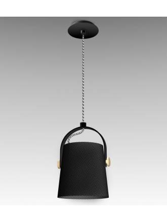 Lampara colgante Nordica 20cm negra de Mantra