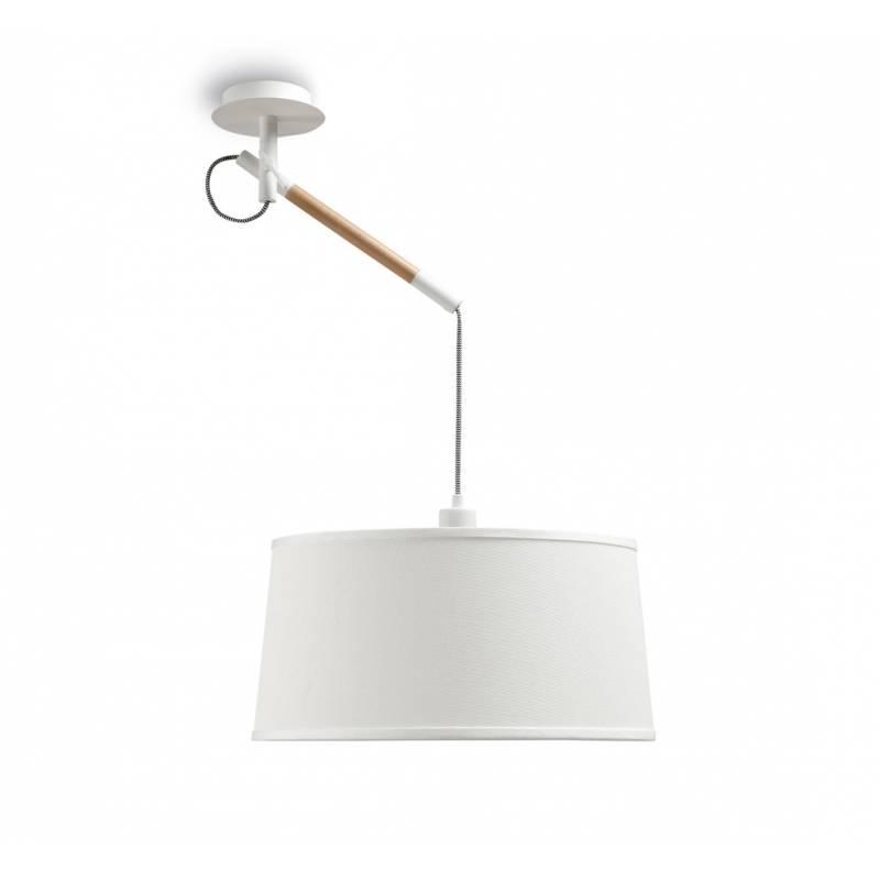 Lampara colgante Nordica 1 luz metal blanco de Mantra