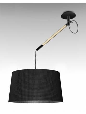 Lampara colgante Nordica 1 luz metal negro de Mantra