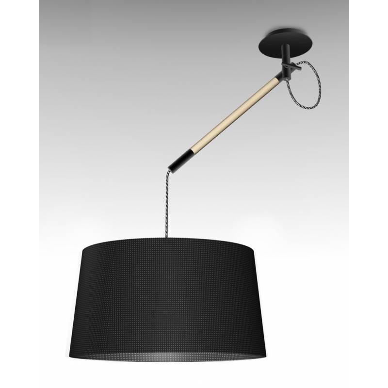 Mantra Nordica pendant lamp 1L black shade