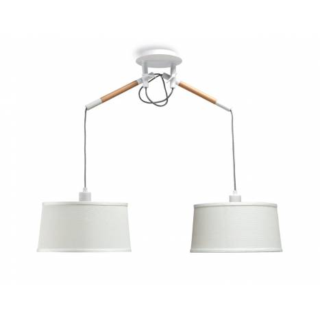 Lampara colgante Nordica 2 luces metal blanco de Mantra