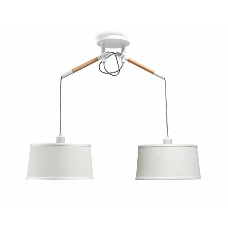 Mantra Nordica pendant lamp 2L white shade