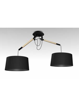 Lampara colgante Nordica 2 luces metal negro de Mantra