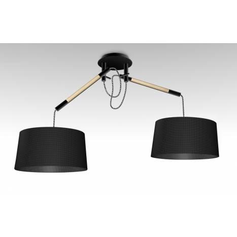 Mantra Nordica pendant lamp 2L black shade
