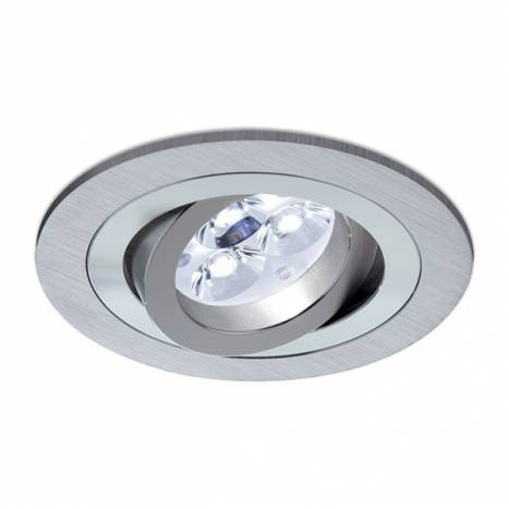 Foco empotrable LED 8w Sharp circular aluminio basculante
