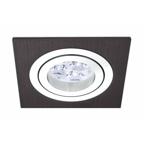 Square recessed light LED 8w black aluminium