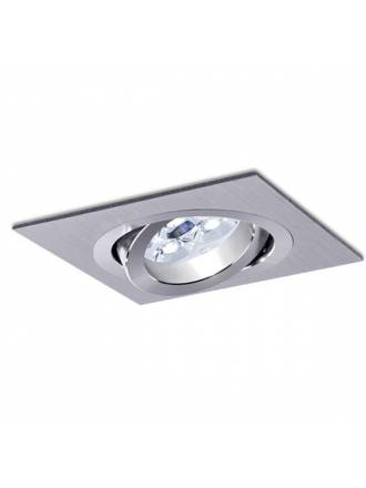 Square recessed light LED 8w aluminium