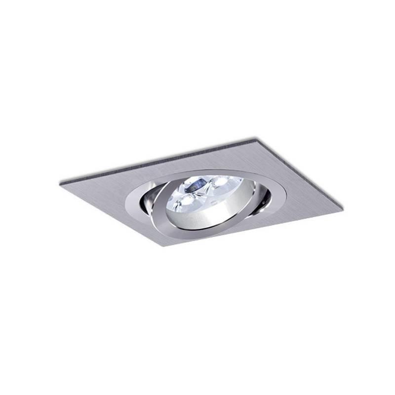 Foco empotrable LED 8w Sharp cuadrado aluminio basculante