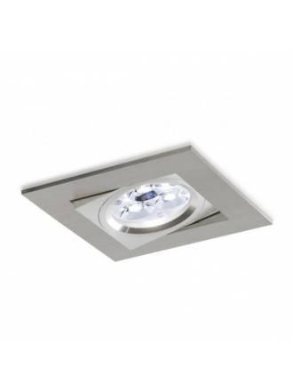 Foco empotrable LED 6w 3000 cuadrado aluminio basculante