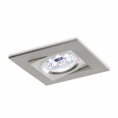 Foco empotrable LED 8w 3000 Sharp cuadrado basculante